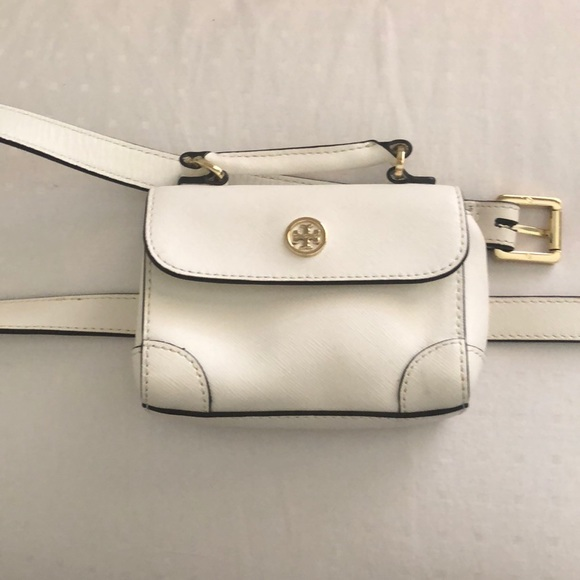 5ace6f64b43 Tory Burch White Leather Belt Bag / Fanny Pack